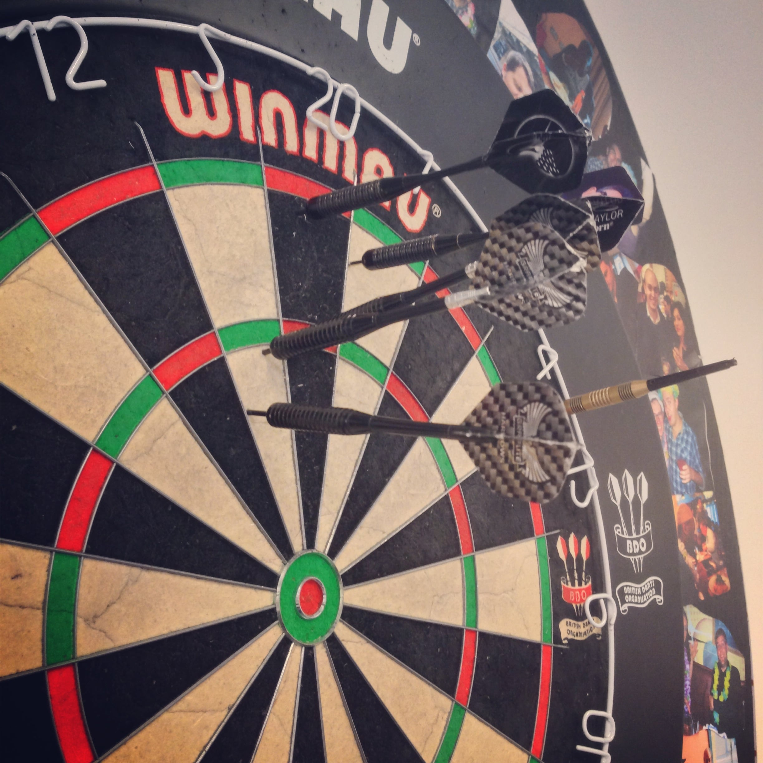 Dartboard At Lucidica, One Of Our Core Values Is To Have Fun. It Helps Us  To Enjoy What We Do And That In Turn Makes Us Great At What We Do.
