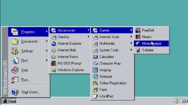 History of windows 95
