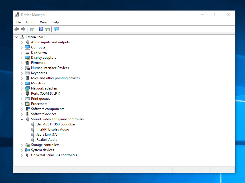 WINDOWS 10: NO AUDIO OUTPUT DEVICE INSTALLED