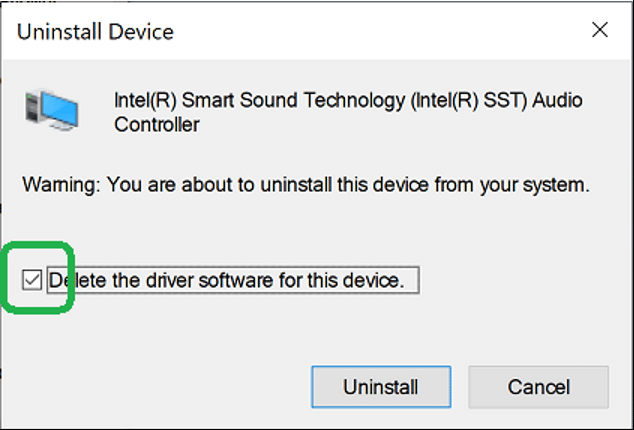 Delete Driver Software